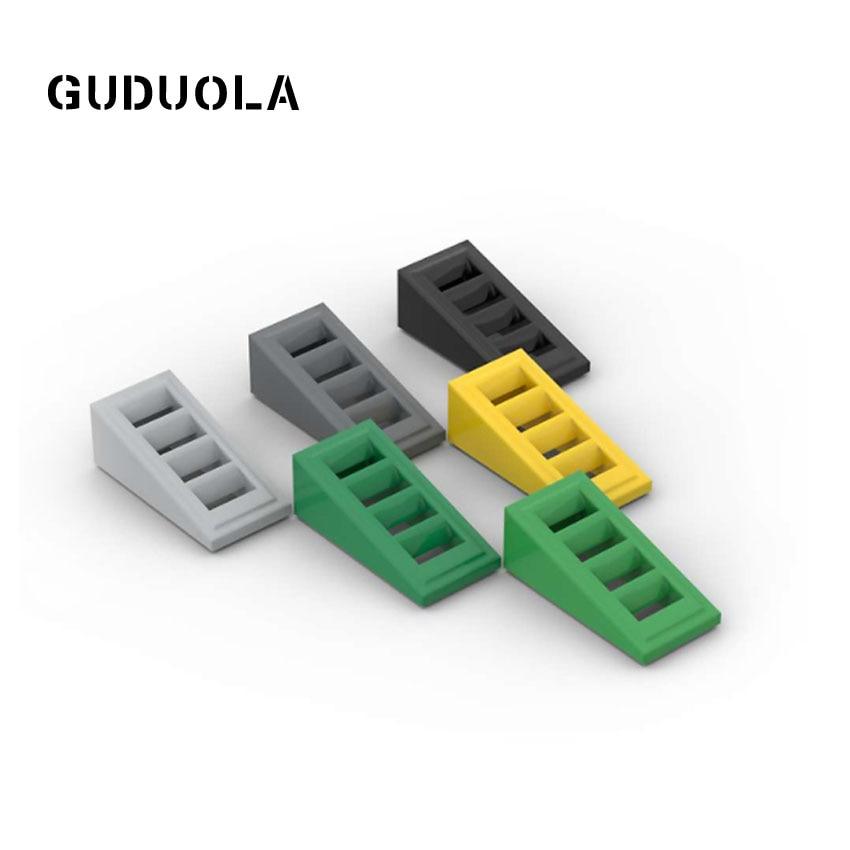 Guduola кирпич 61409 наклон с решеткой 1x2x 2/3 кирпич MOC построить наклон 1x2x0,6 (18 °) с решеткой сборочные блоки игрушки 80 шт./лот