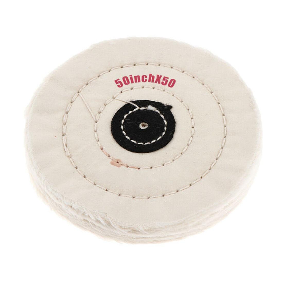 1pc Cotton Polishing Wheel Cloth Buffing Wheel Pad Polishing Jewelry 5 Inch Buffer Mirror Polish Wheel 50 Layers Abrasive Tools