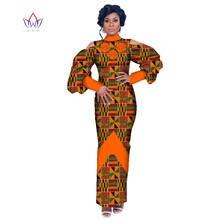 Женские платья Дашики традиционное Африканское платье с длинным