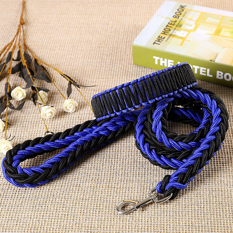 Tianjin Jia Color Stereotyped Nylon Weaving Pet Traction Rope Large Dogs For Semi-Controlled Pet Traction Rope