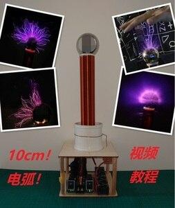 Image 4 - Funken lücke tesla draht falle stück diy technologie zu produzieren drahtlose übertragung licht arc arc spray arc