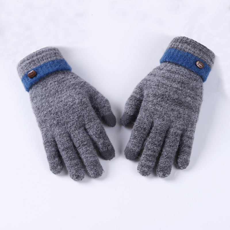 Knitted Gloves Thicken Winter Warm Glove Touch Screen Gloves Male Warm Gloves Winter Men Mitten