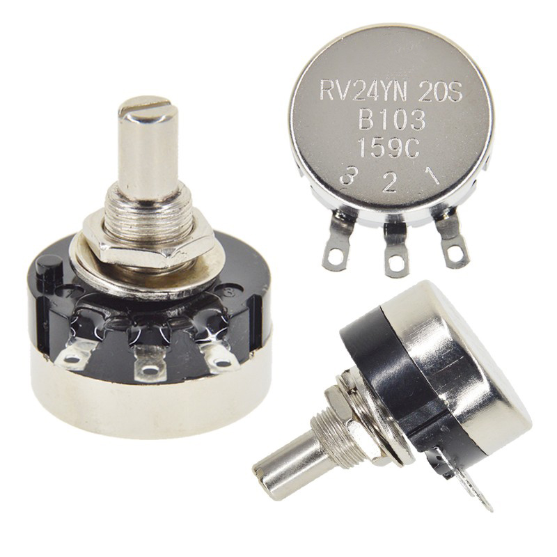 RV24YN20S Potentiometer B501 B103 B202 B502 B102 B203 B503 B104 B204 B504 B105 Potentiometers 500 Ohm 10K 20K 50K 100K 200K Ohm