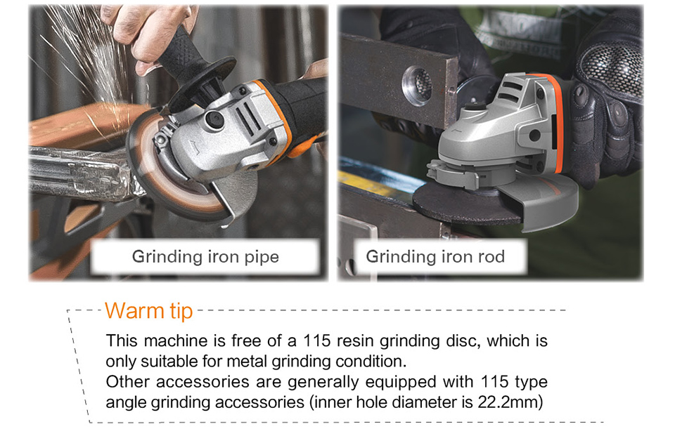 Grinding iron pipe