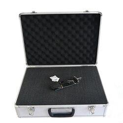 460x332x150mm Tragbare aluminium legierung werkzeug box Dokument lagerung box Koffer Hardware ausrüstung instrument fall mit schwamm