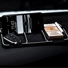 1X سيارة زلة مقاومة سادة شعار ل سيارة حامل هاتف محمول على لوحة القيادة السيارات لوحة سادة لزجة غير زلة ماتس BMW ادا اكسسوارات