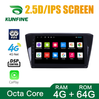 Octa Core 1024*600 Android 8.1 Car DVD GPS Navigation Player Deckless Car Stereo For Skoda Super 2015 2017 Radio Headunit wifi