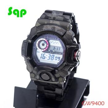 New Arrival GW9400 Stainless Steel Black Camouflage Watch Set Watchband Bezel/Case Metal