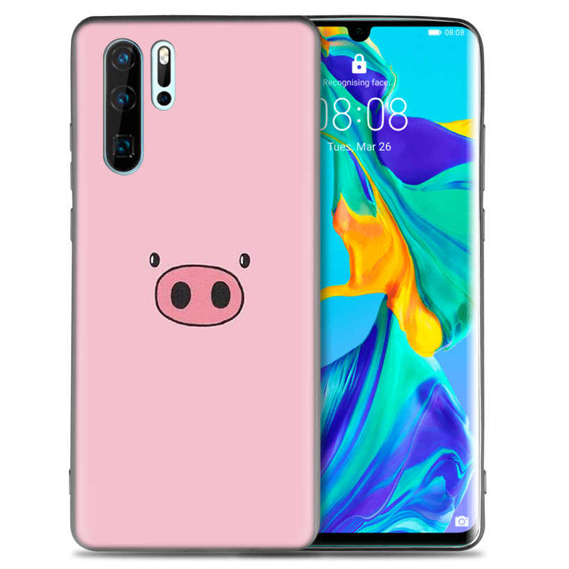 Cute PINK Kawai Pig TPU Soft Phone Case For Huawei P20 P30 P9 P10 Mate 10 20 30 Lite Pro P Smart Plus Z 2019 2017 Cover Shell