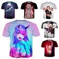 Аниме Darling In The Franxx футболка новая 3D ZERO TWO футболка Senpai с коротким рукавом Idol Girl мужские Топы сексуальное пляжное бикини хентай тройники