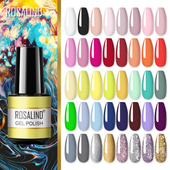 ROSALIND Gel polish For Nails Manicure Winter Colors vernis semi permanent primer Nail art Hybrid Gel Varnishes nail polish 1