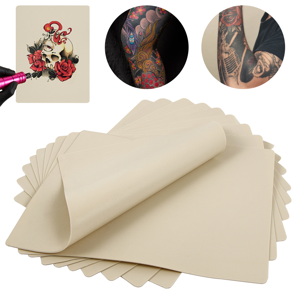 10pcs 20x15cm Tattoo Practice Skin Synthetic Blank Tattoo Practice Skin Sheet For Needle Machine Supply Kit Drop Shipping