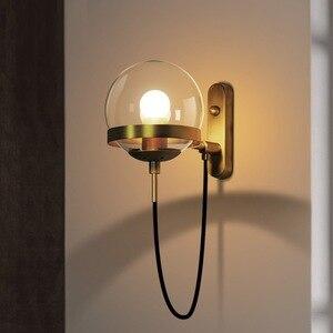 Image 2 - נורדי קיר מנורות מודרני פמוט קיר אור קבועה Stairway LED אור ב פוסט מודרני כפרי עתיק אדיסון זכוכית כדורית צורה
