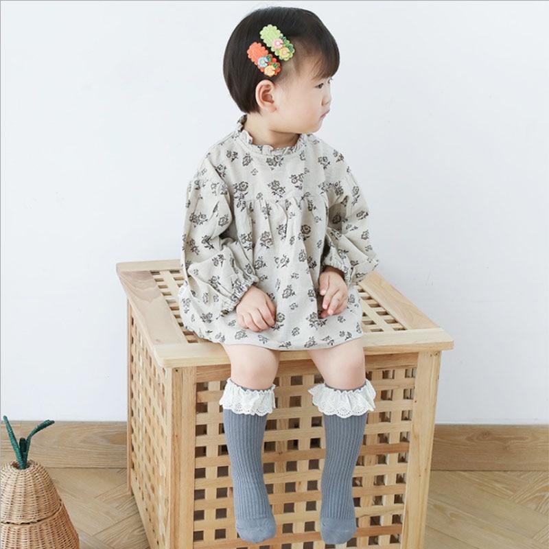 New Baby Girls socks Long Socks Kids Knee Lengths Soft Cotton baby Socks Kids 0-4 Years Knee High Socks 4
