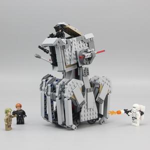 Image 4 - 05126 primer orden Heavy Scout Walker Star Wars en miniatura Kit de bloques de construcción ladrillos compatibles legoed 75177 regalos de navidad DIY
