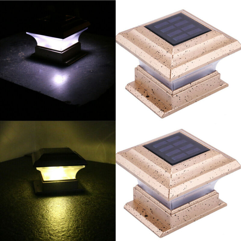 LED Solar Powered Deck Light Outdoor/Garden/Yard/Wall/Patio/Fence/Pathway Lamp