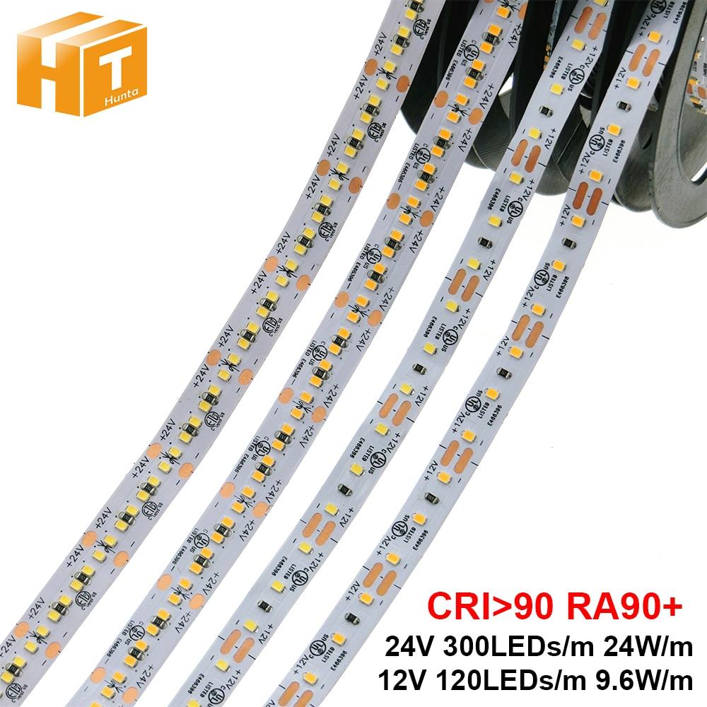 High End LED Strip 2216 RA90+ CRI>90 12V 120LEDs/m 9.6W/m 24V 300LEDs/m 24W/m 3000K 4000K 6000K High Brightness LED Strip 5m/lot