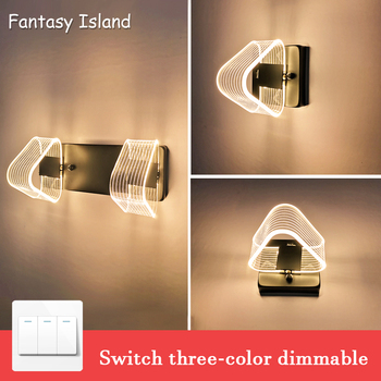 Modern Wall Light Led Indoor Wall Lamps Led Wall Sconce Lamp Lights For Bedroom Living Room Stair Mirror Light Round Acrylic Mat lediary modern 17w 80cm 85led indoor led wall light acrylic mirror lighting decorative lamps with ce rohs with waterproof driver