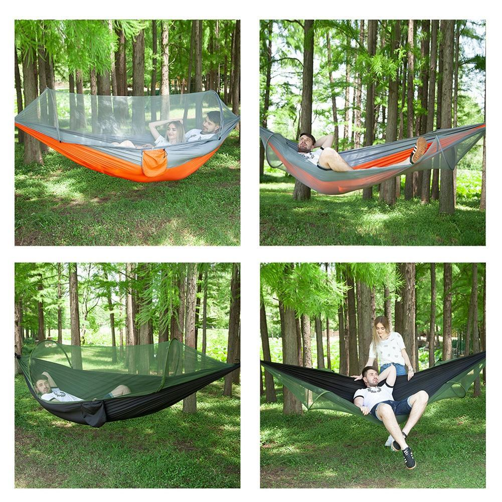 Parachute Double Hammock Mosquito Net Camping Hanging Bed Sleeping Fabric Parachute Double Hammock Camping Outdoor Travel Sep 9