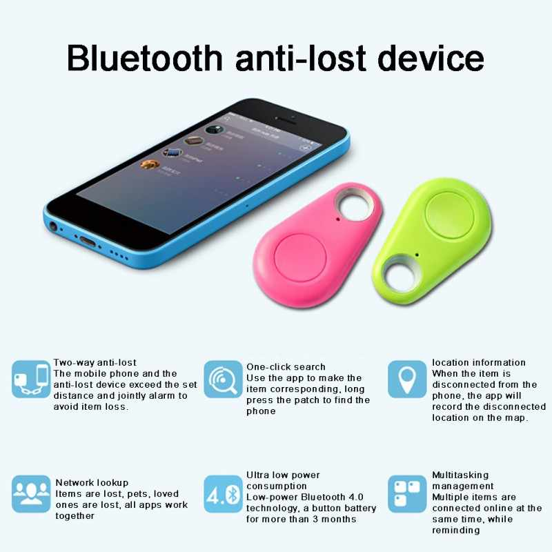 Mini dispositivo remoto Anti-Pérdida portátil rastreador Bluetooth alarma niño mascota cartera bolsa teléfono buscador de llaves caja rastreador para IOS Andriod