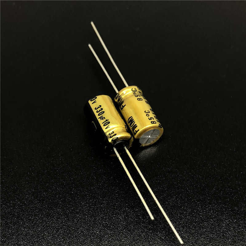 10pcs 330uF 10V NICHICON FW Series 6.3x11mm 10V330uF Audio Aluminum Electrolytic Capacitor