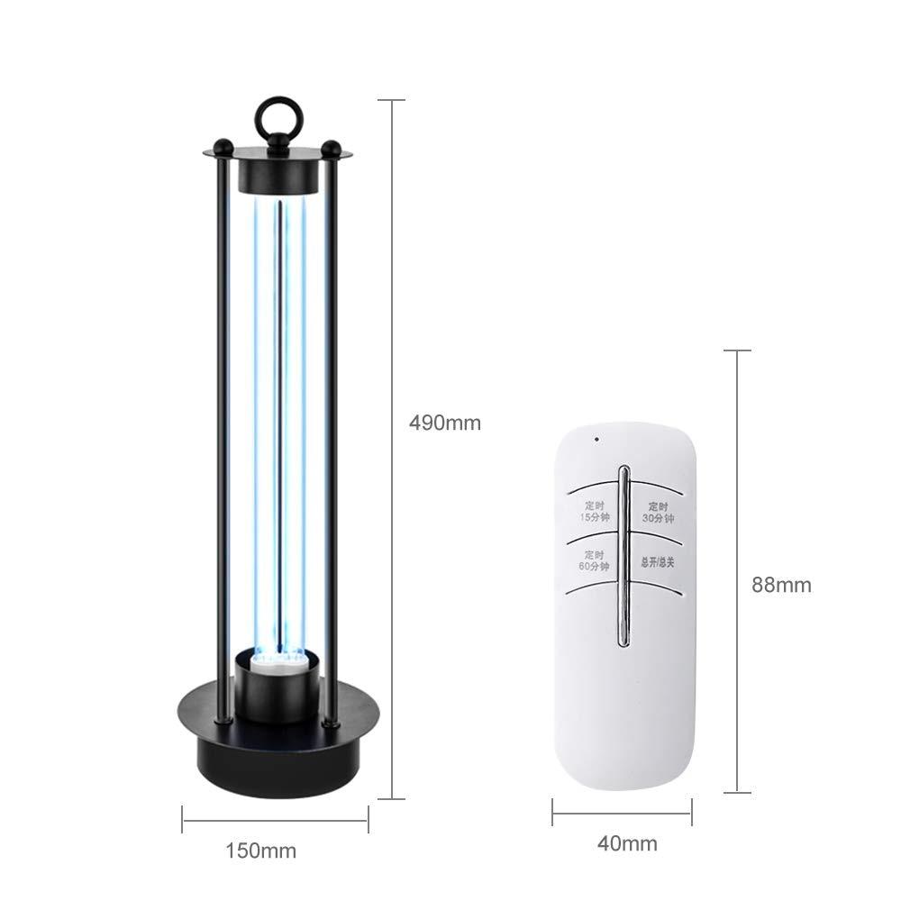 Ultraviolet Disinfect Lamp 38W UVC Quartz Lamp Portable Sterilizer Remote Mite Control Ozone Sterilization