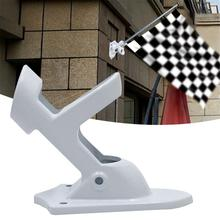 1pc Aluminum Wall Mount Flag Pole Holder Bracket Portable Adjustable Sports Meeting Party Flags Fixed Seat