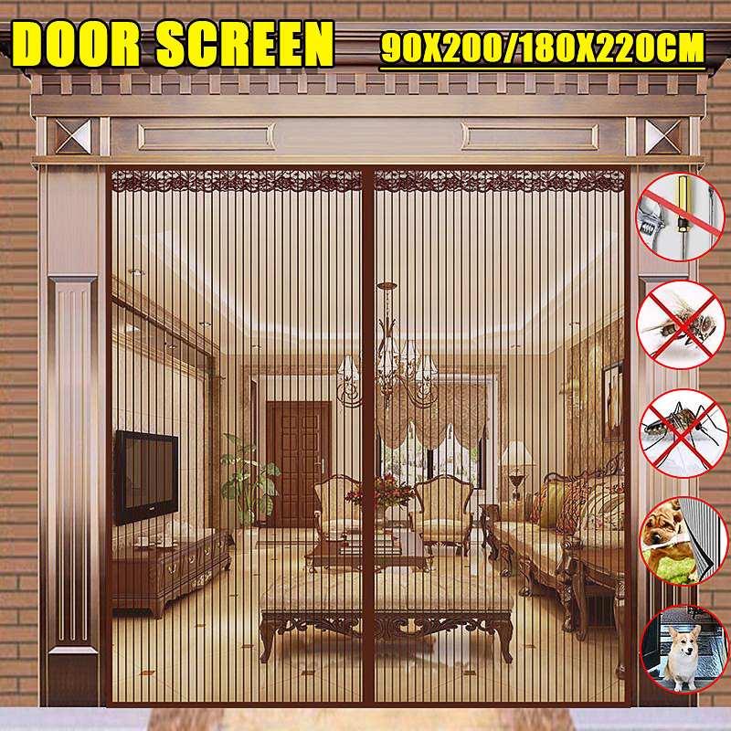 2 Size Summer Magnetic Mosquito Net Door Net Anti Fly Insect Mosquito Door Screen Anti-Mosquito Magnetic Curtain Mesh For Door