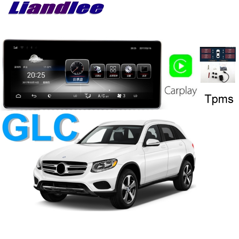 Liandlee Car Multimedia Player NAVI <font><b>For</b></font> <font><b>Mercedes</b></font> Benz MB GLC 200 Class X253 C253 <font><b>GLC300</b></font> CarPlay TPMS Stereo <font><b>GPS</b></font> Navigation image