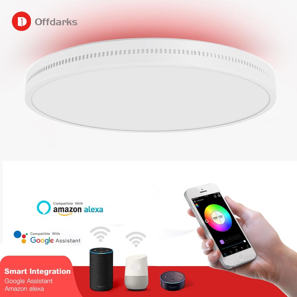 Plafond moderne à LEDs lumière rvb gradation 48 W/60 W APP wifi voix contrôle intelligent salon chambre cuisine plafonnier