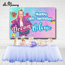 InMemory Jojo Siwa Girls Birthday Photography Backdrops Bokeh Glitter Newborn Photo Studio Backdrop Background Vinyl