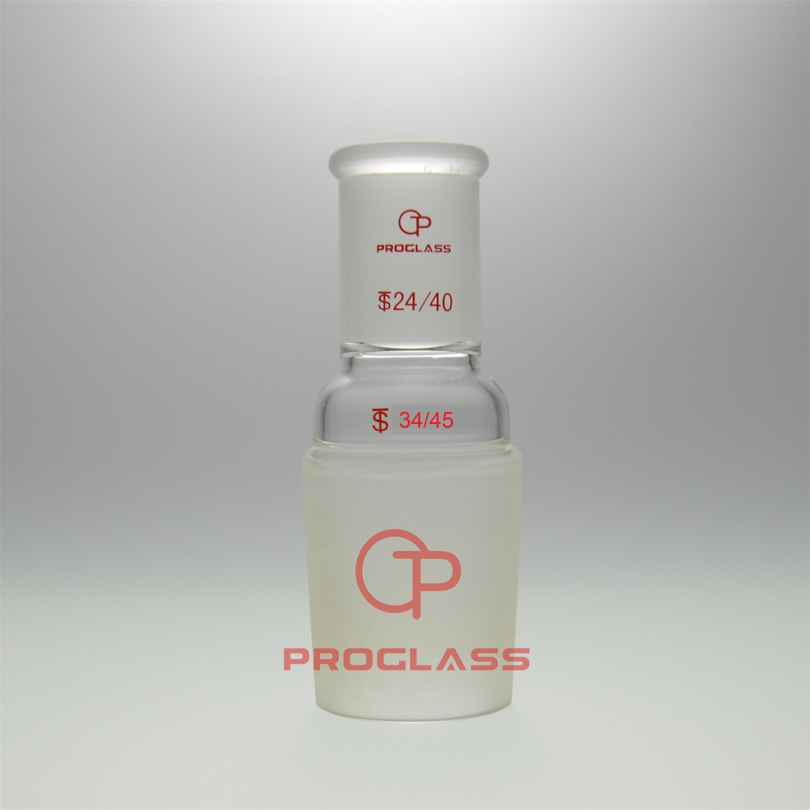 Лабораторный увеличитель стекла Соединительный адаптер верхняя 24/40 Нижняя 34/45