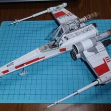 Science fiction aircraft X-Wing Paper Model DIY Handmade Fancy Toy Garage Kit Paper Handicraft Decoration