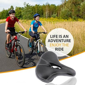 Universal Ultra Wide Comfortable Cushion Saddle Bicycle Seat Cushion Saddle For Cycling Bike Accessories Cycling Gel Pads #04