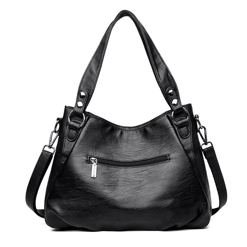 Image 4 - Womens Genuine Leather Handbag Large Leather Designer Big Tote  Bags for Women 2019 Luxury Shoulder Bag Famous Brand HandbagsShoulder  Bags