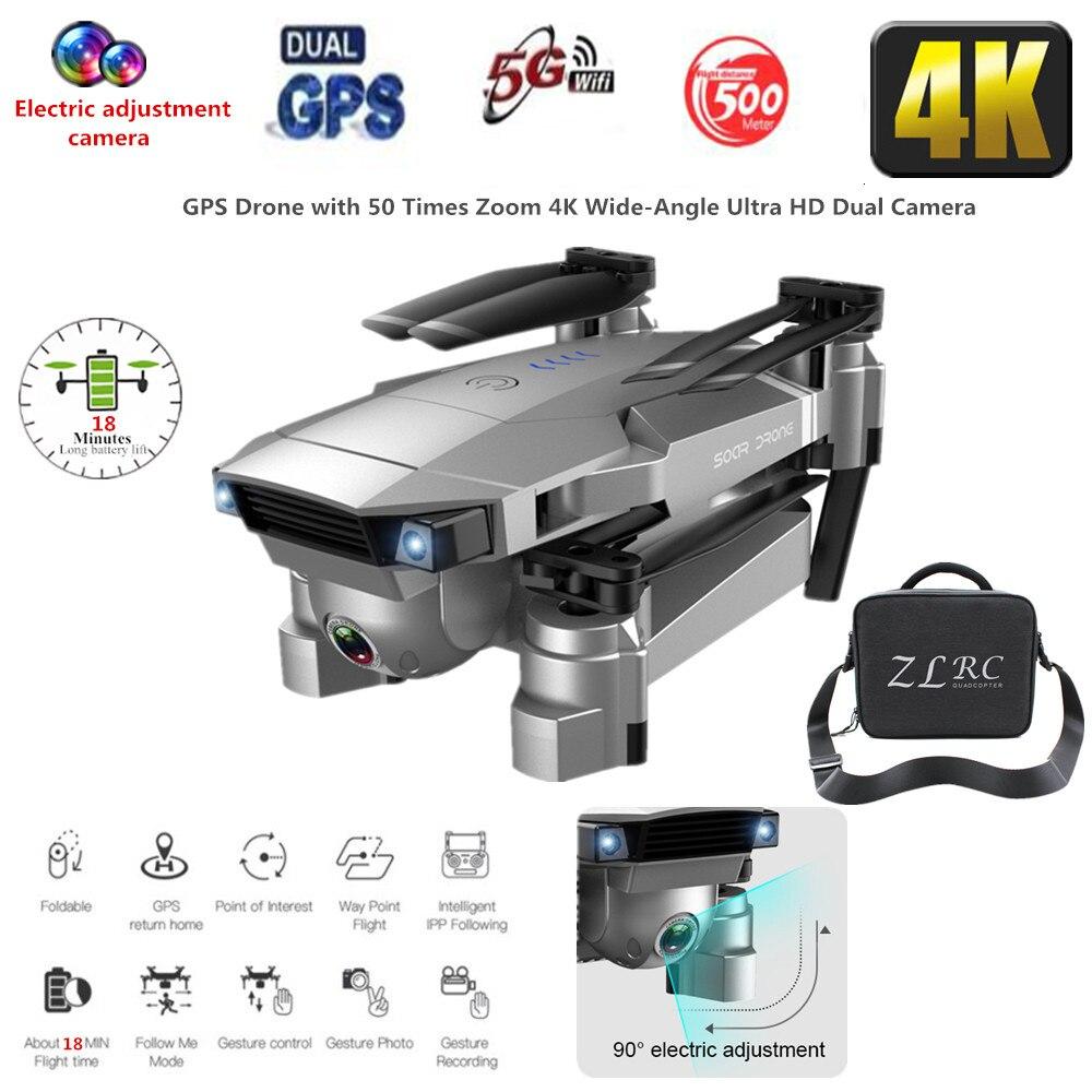 Meilleur Drone GPS 4K 16MP HD caméra 5G suivez-moi WIFI FPV RC quadrirotor pliable Selfie vidéo en direct maintien d'altitude retour automatique