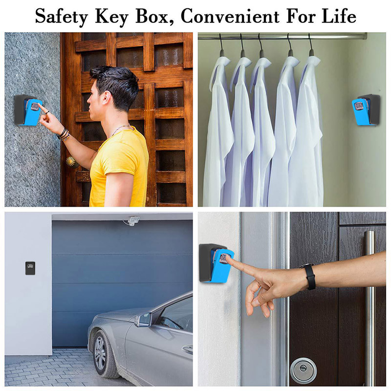 Password Key Box Wall Mounted Security Anti-theft Outdoor Key Safe Lock Storage Box SNO88
