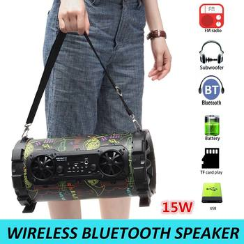 Portable Wireless Loudspeaker bluetooth Speaker Subwoofer Outdoor 3D Stereo Music Surround Player With Mic Suport FM AUX USB TF