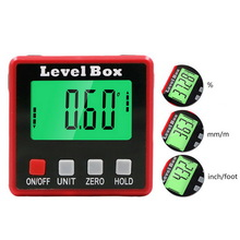 2key digital inclinometer level box protractor angle finder gauge meter bevel level boxes illuminated lcd display Mini Protable Magnetic Digital Inclinometer Level Box Gauge Angle Meter Finder Protractor Base Measuring Tools