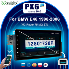 """PX6 9 """"BMW E46 M3 318/320/325/330/335 용 Android 10 1 din 차량용 라디오 Rover 75 2DIN android autoradio 카오디오 스테레오 내비게이션 gps"""