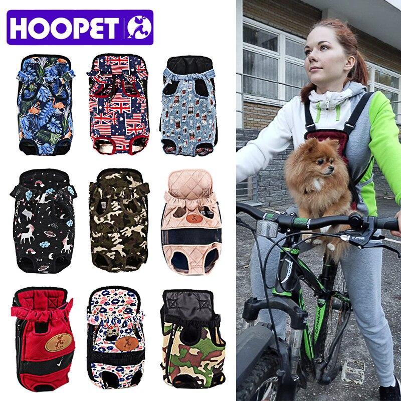 HOOPET Carrier na psy domowe plecak na psa Mesh Outdoor Travel Products oddychające torby na ramię dla małych psów koty