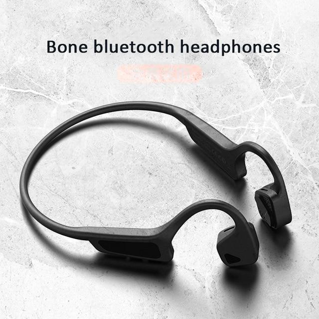 Bone auriculares inalámbricos con Bluetooth 5,0, Auriculares deportivos a prueba de sudor, de alta calidad