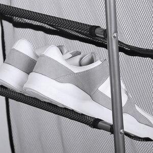 Image 5 - 多機能ドアの後ろに 10 層シューズラックぶら下げメッシュ靴省スペース棚ホルダー収納キャビネット家具