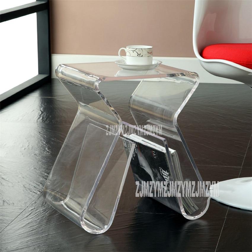 Acrylic Transparent Small Tea Table Book Magazine Shelf Creativity Colorful Office Reception Room Living Room Modern Tea Table