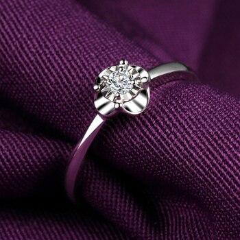 18K Gold Male And Female Couple Ring Platinum Diamond Ring Wedding Marriage Proposal Diamond Ring Genuine Rose Gold Platinum 3