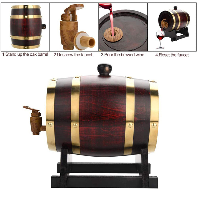 Vintage Oak Barrel 4