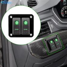 2/4 갱단 로커 스위치 패널 자동차 마린 캠핑 캐러밴 여행 트레일러 LED 방수 스위치 패널 회로 차단기 12 24V