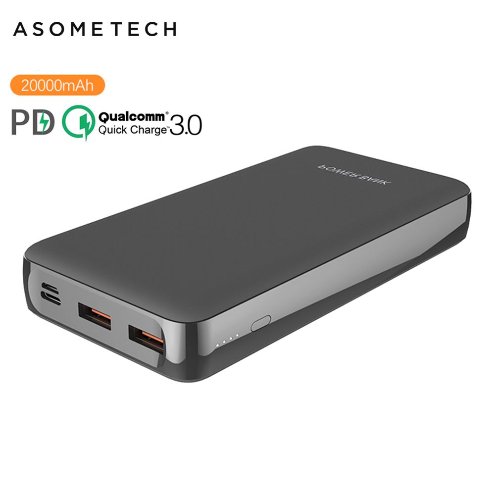 20000mAh Power Bank PD Type C Quick Charger For IPhone 11 Pro QC 3.0 Fast Charge Powerbank For Huawei Samsung External Battery