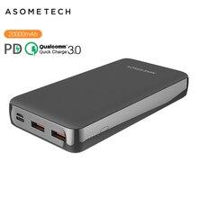 20000mAh güç bankası PD tipi C hızlı iphone şarj cihazı 11 Pro QC 3.0 hızlı şarj güç banka Huawei Samsung için harici pil