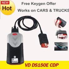 2021 VD TCS CDP PRO 2017R3 bezpłatny keygen Bluetooth vd ds150e cdp dla Delphis samochody ciężarowe OBD2 narzędzia diagnostyczne